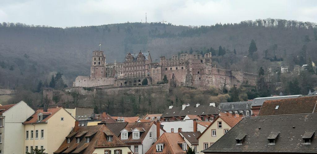 Heidelberg Blick zum Schloss